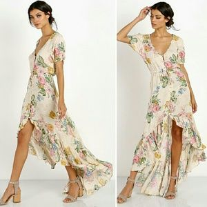 New auguste delilah maxi dress natural bloom 6 XS